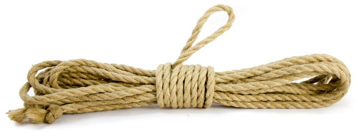Compra cuerdas de yute natural de 8m y 6mm para Shibari y Kinbaku en mybdsmstore