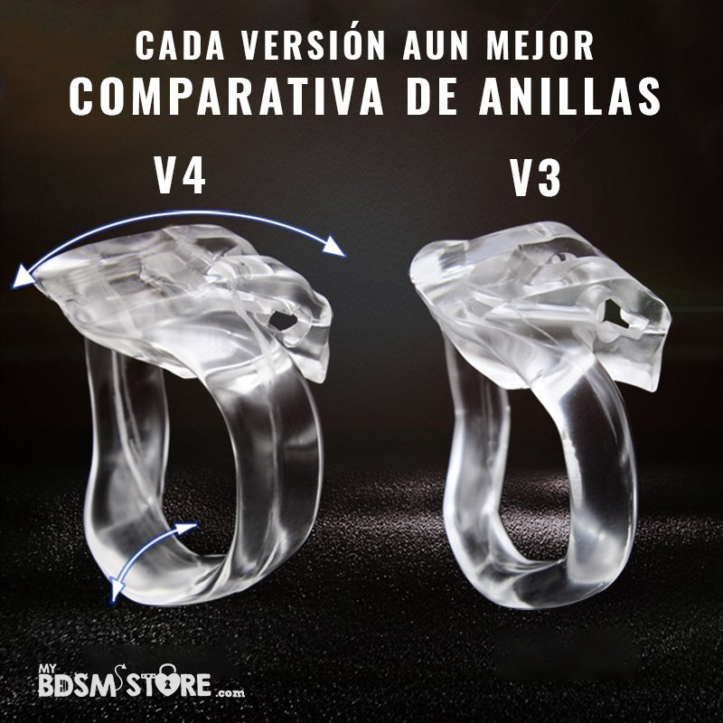 Holy trainer v4 Jaula de castidad normal standart chastity device belt cage anillas comparacion comparision