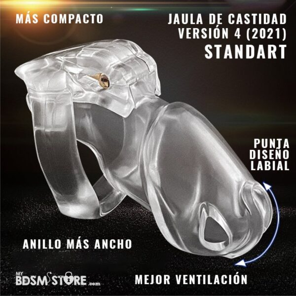 Holy trainer v4 Jaula de castidad normal standart chastity device belt cage colores negro rosa transparente