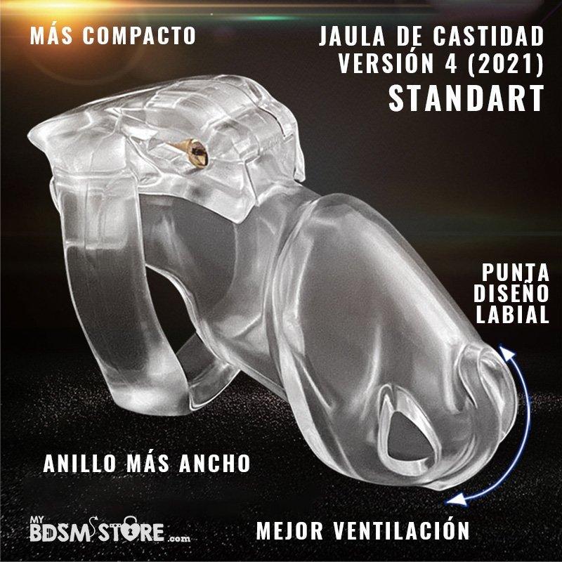 Holy trainer v4 Jaula de castidad normal standart chastity device belt cage colores negro rosa transparente