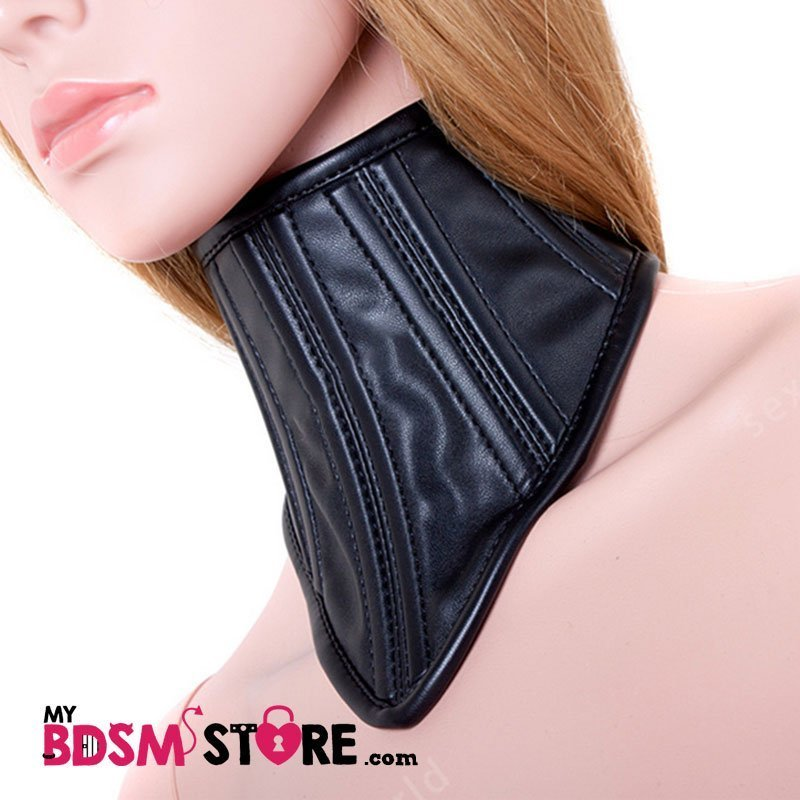Corset cuello ajustable restrictivo posture collar fetish fiesta elegante ajustable