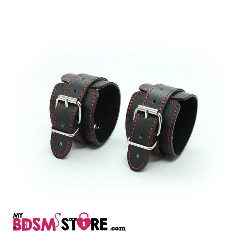 Restricciones bordadas en rojo muñequeras tobilleras para bondage y bdsm comprar tienda store