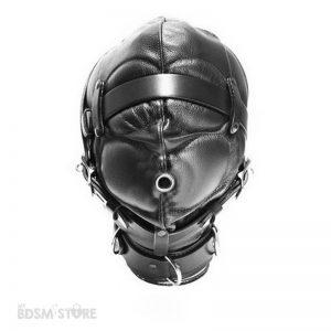 capucha de privación sensorial frontal