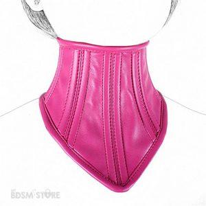 Corset-cuello-ajustable-restrictivo-posture-collar-fetish-fiesta-elegante-ajustable-rosa