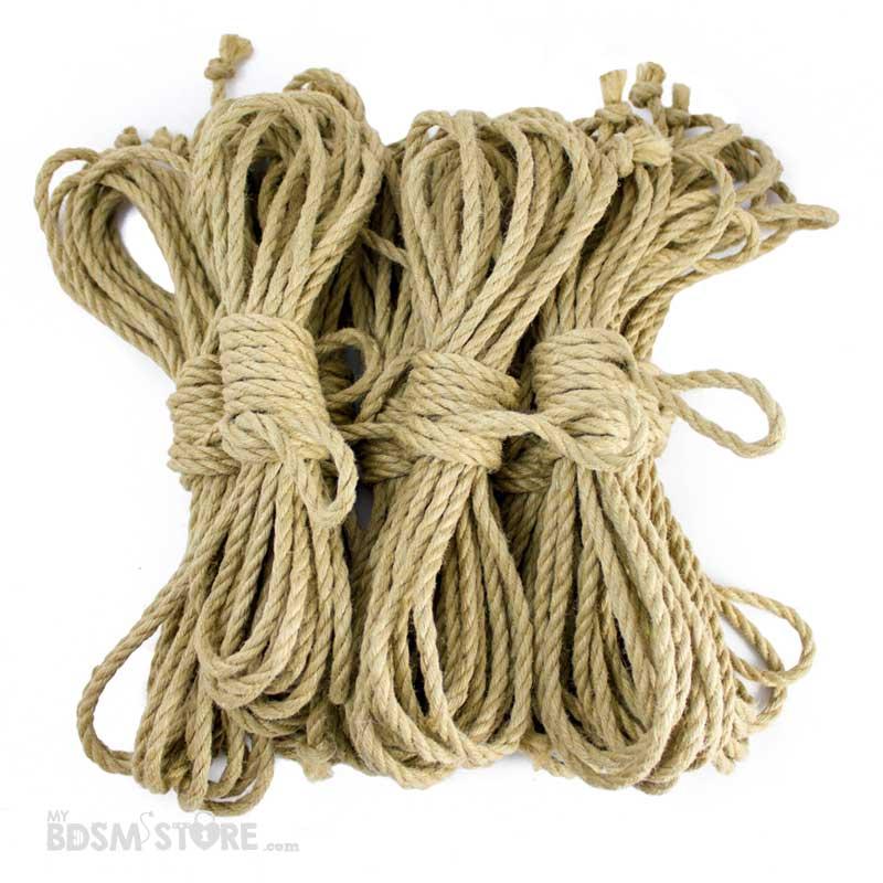 Kit de 7 Cuerdas de yute para shibari y kinbaku. Comprar cuerdas para bdsm y bondage de yute 6mm