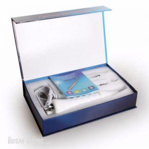 Juego de electro estimulación Violet Wand 4 cabezales desmontadas caja presentacion