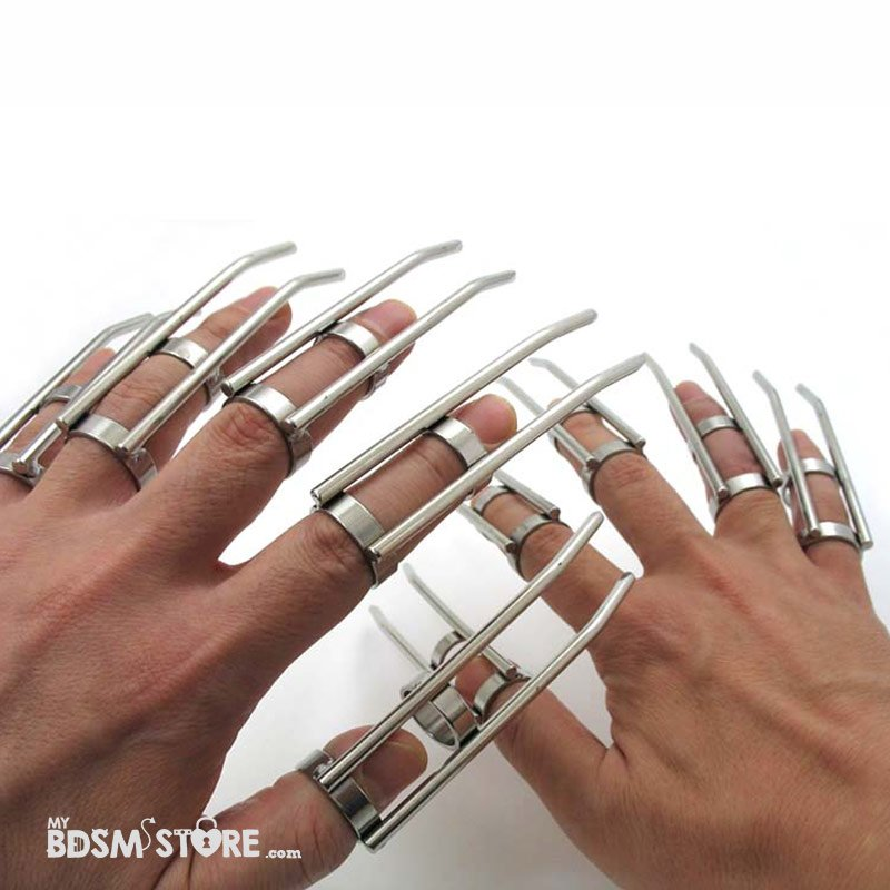Garras Bdsm, uñas para juegos de sensaciones dos manos