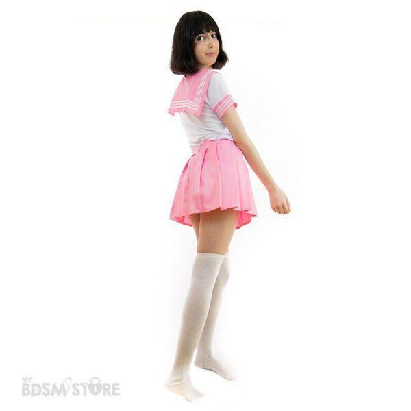 Uniforme de colegiala Seifuku kawaii rosa sexy bdsm role play juegos de rol lolita, japonesa cuqui cute
