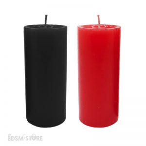 Wax play BDSM sensations sensuality Low temperature candles red black