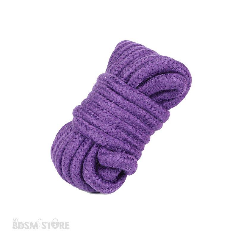 Cuerda de Algodón para juegos de bondage y restricciones BDSM ataduras atar tie exposición erotismo 5m morada