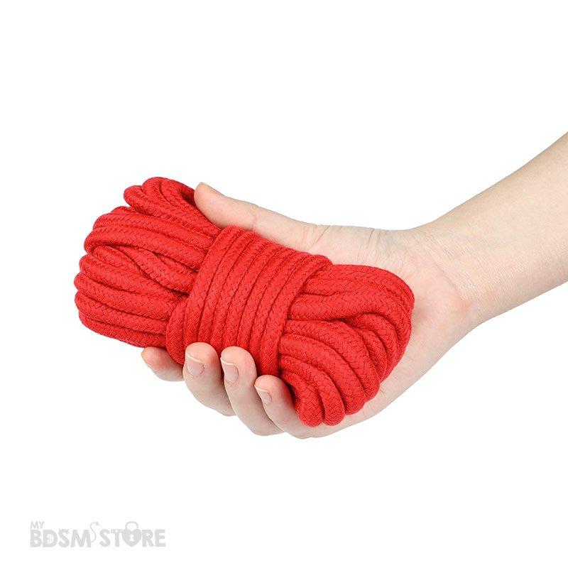 Cuerda de Algodon para juegos de bondage y restricciones BDSM ataduras atar tie exposición erotismo 5m rojo tamaño
