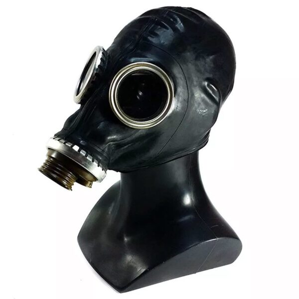 mascara de gas fetish control respiracion breath play sovietica negra angulo